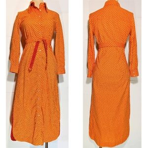 Geoffrey Beene Bazaar Vintage 70's Maxi Shirtdress
